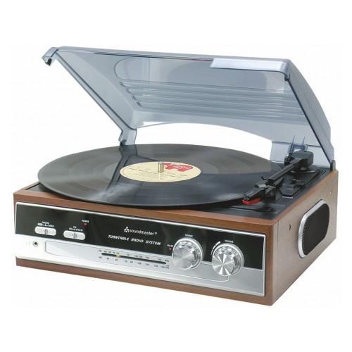 Soundmaster PL186H Retro atskaņotājs FM radio atskaņotājs ar iebūvētiem skaļruņiem.